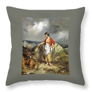 Girl With A Pitcher Throw Pillow