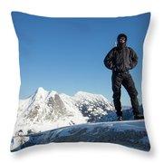 Mountaineering Throw Pillow