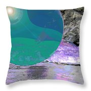 Space Landscape Throw Pillow