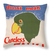 Wwii Poster, C1943 Throw Pillow