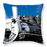 480 Locomotive Throw Pillow