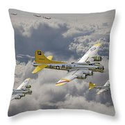 487th Bomb Group Throw Pillow