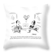 Ok, Cynthia, I'll Tell You About My Hopes Throw Pillow