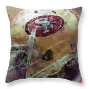 49ers Art Throw Pillow
