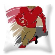 49ers Shadow Player2 Throw Pillow