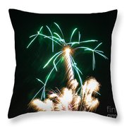 4th Of July 2014 Fireworks Bridgeport Hill Clarksburg Wv 2 Throw Pillow by Howard Tenke