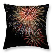 4th Of July 3 Throw Pillow by Marilyn Hunt