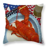 4th Of July Camp Guest Throw Pillow