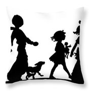 4th Of July Childrens Parade Panorama Throw Pillow by Rose Santuci-Sofranko