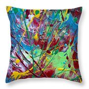 4th Of July Throw Pillow by Donna Blackhall