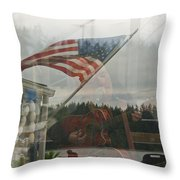 4th Of July In Seabeck Throw Pillow