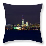 4th Of July New York City Throw Pillow by Raymond Salani III