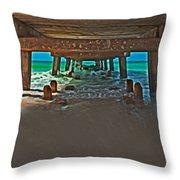 4x1 Under Fishing Pier Throw Pillow
