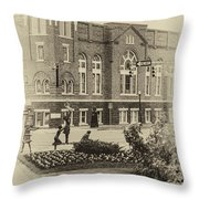 16th Street Baptist Church In Black And White With A White Vingette Throw Pillow