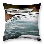 1940 Chevrolet Hood Ornament Throw Pillow