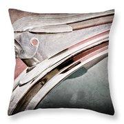 1948 Pontiac Chief Hood Ornament Throw Pillow