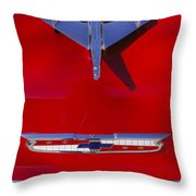 1955 Chevrolet Belair Nomad Hood Ornament Throw Pillow