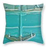 1956 Chevrolet Belair Hood Ornament Throw Pillow
