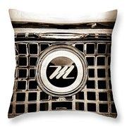 1959 Nash Metropolitan Grille Emblem Throw Pillow