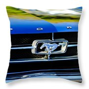 1965 Shelby Prototype Ford Mustang Grille Emblem Throw Pillow