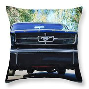 1965 Shelby Prototype Ford Mustang Throw Pillow