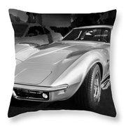 1969 Chevrolet Corvette 427 Bw Throw Pillow