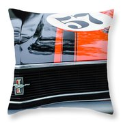 1970 Ford Mustang Boss 302 Grille Emblem Throw Pillow