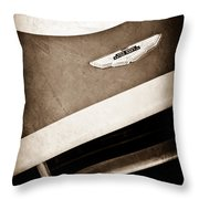 1993 Aston Martin Dbr2 Recreation Hood Emblem Throw Pillow