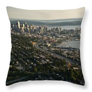 Aerial View Of Seattle Throw Pillow