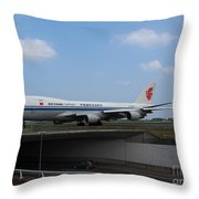 Air China Cargo Boeing 747 Throw Pillow