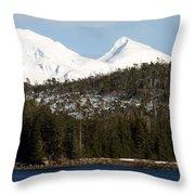 Alaskan Landscape Throw Pillow