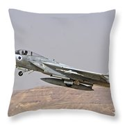 An F-15c Baz Of The Israeli Air Force Throw Pillow