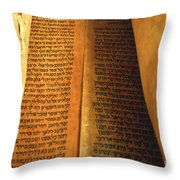 Ancient Torah Scrolls From Yemen  Throw Pillow