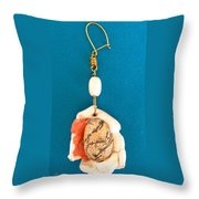 Aphrodite Earring Throw Pillow