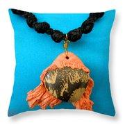 Aphrodite Melainis Necklace Throw Pillow