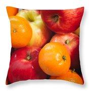 Apple Tangerine And Oranges Throw Pillow
