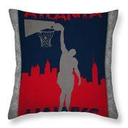 Atlanta Hawks Throw Pillow