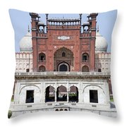 Badshahi Mosque In Lahore Pakistan Throw Pillow