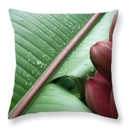 Banana Leaf Throw Pillow