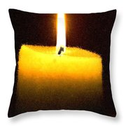 Believe In The Light Throw Pillow