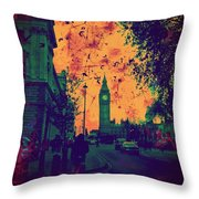 Big Ben Street Throw Pillow