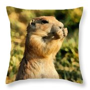 Black-tailed Prairie Dog Throw Pillow