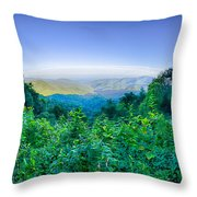 Blue Ridge Parkway National Park Sunset Scenic Mountains Summer  Throw Pillow