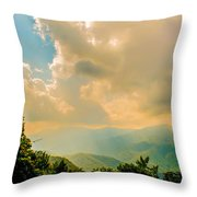 Blue Ridge Parkway Scenic Mountains Overlook Throw Pillow