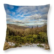 Blue Ridge Parkway Winter Scenes In February Throw Pillow