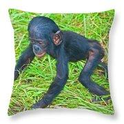 Bonobo Baby Throw Pillow