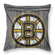 Boston Bruins Throw Pillow