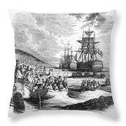 Boston: Evacuation, 1776 Throw Pillow