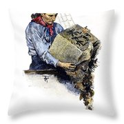 Boston Tea Party, 1773 Throw Pillow