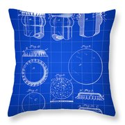 Bottle Cap Patent 1892 - Blue Throw Pillow